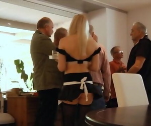 Sexy Teenager Waitress is..
